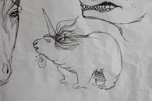 A groundicorn, or a unihog?  By Burton Booz