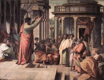 Paul preaching at the Aeropagus
